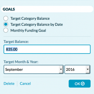 YNAB - Goals Feature