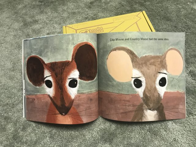 Mousetropolis book from the Deluxe upgrade - Koala Crate