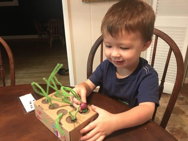 Planting a pretend turnip - Koala Crate