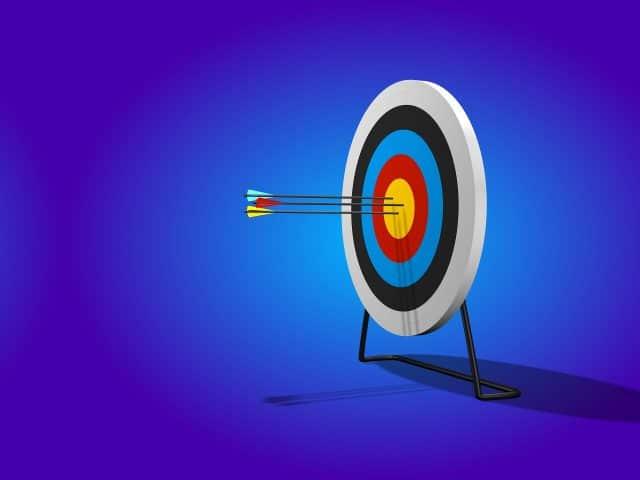 Arrows hitting a bullseye